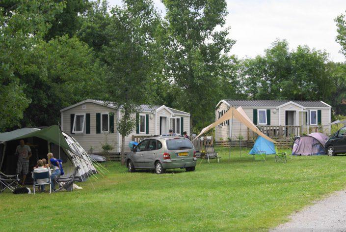 Les emplacements avec mobil-homes