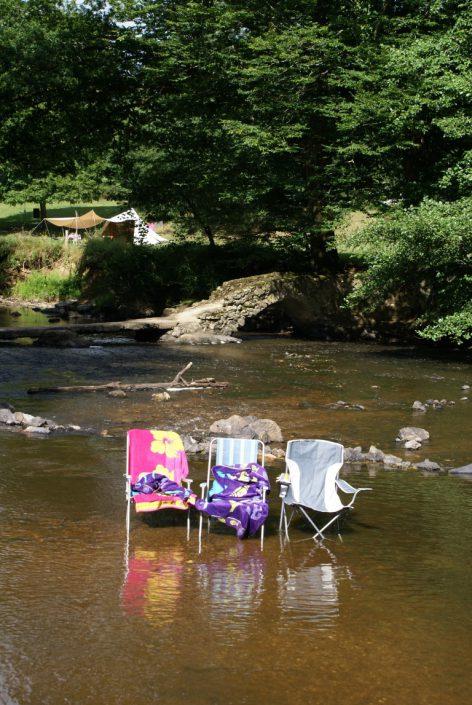 Ontspannen in de rivier