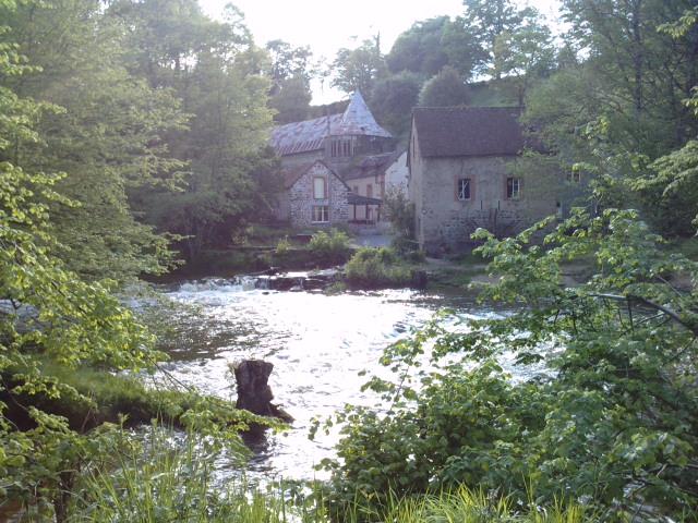 Het dorpje Piot met de molen